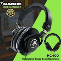 MACKIE MC-100 HEADPHONE FLAT CLOSED BACK STUDIO MONITOR ORIGINAL