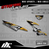 STRIPING VARIASI MIO SPORTY / SMILE - SMIO 15 - STIKER MOTIF RACING