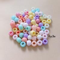 Manik bulat pastel | bahan aksesoris kalung gelang handmade craft