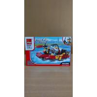 Mainan Anak Laki Lego Mobil Balap - Pemadam Kebakaran - Fast & Car - Pemadam kecil