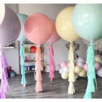 18inch Balon Latex Macaron / Balon Karet warna Pastel Jumbo