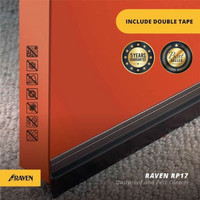 Raven Door Bottom Seal RP 17 Brown / Seal penutup celah bawah pintu