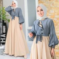 Baju Gamis Syari Muslim Wanita Terbaru Mitha Dress Termurah
