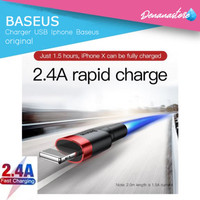 Kabel charger Baseus iphone 6 7 8 X cable apple lighting fast charger - 100cm