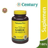 Nature's Plus Garlic & Parsley Oil 180 Kapsul/Daya Tahan Tubuh