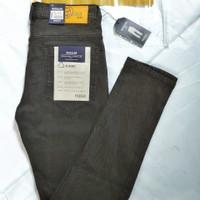 celana soft jeans hitam - Cokelat, 28