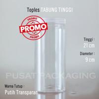 Toples Jar 1300ml Plastik PET Silinder Tabung 1.3L Serbaguna 1.3 Liter