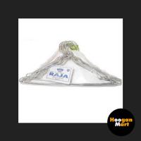 [ Hanger ] Gantungan / Kapstok Besi Kuat Baju Dewasa Cap Raja (isi 12)