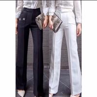 Celana Kulot ZepperTerbaru (Bahan Tebal) Fashion Korea,All Size