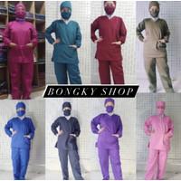 Baju Seragam OKA Set / Baju OK /Baju Jaga Perawat Medis Lengan Panjang