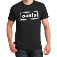 Faremost - T-Shirt Distro/Fashion Atasan/ Premium OASIS - HITAM