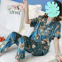 baju tidur piyama setelan wanita import satin premium