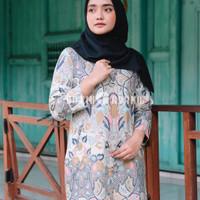 Baju Batik Wanita Dress Batik Atasan Batik Wanita Blouse Kantor GW12 - S