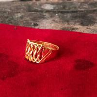 Cincin Rante atas emas asli 24k