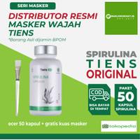 Tiens Masker Spirulina Capsules - isi 50 kapsul - 100% Original