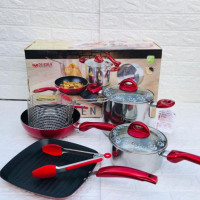 Panci Set 8 Pcs Supra Rosemary Cookware Essential ORIGINAL