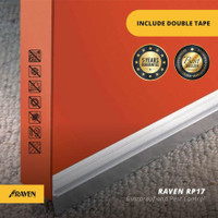 Penutup Lubang Bawah Pintu Raven RP17 Putih Door Bottom Seal