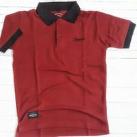 Kaos Polo shirt Pria,Merah Maroon /Kaos berkerah/Unisex,Size S dan M