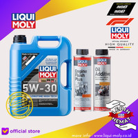 [Paket Ganti Oli Mobil] Long Time+Engine Flush Plus+Oil Additive