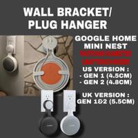 wall mount stand hanger holder for google home mini nest 2 generation - Putih, US GEN1(4.5CM)