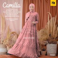 Baju Gamis Wanita Muslim Maxi Dress Brokat Ory Camilla Best Seller