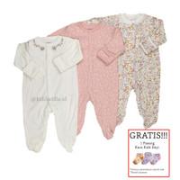 Baju Tidur Bayi Sleepsuit 3 in 1 Mamas Papas Premium Motif Flowery