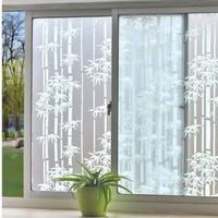 Stiker kaca glass sticker sandblast sunblast lebar 90cm motif bambu