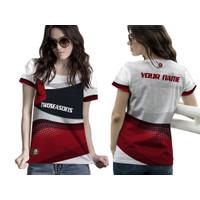 Baju Kaos Tshirt Jersey Wanita Olahraga Futsal Badminton Lari Sepeda04