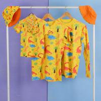 Pop Kidswear Dino Tree couple set - kaos masker topi dinosaurus