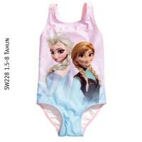 SW228 HM Swimsuit Pink Frozen