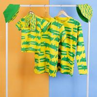 Pop Kidswear Crocodile set - kaos masker topi kembar keluarga