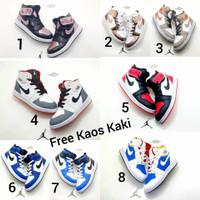 Nike Air Jordan sepatu basket anak size 26 - 35 putih merah biru gold