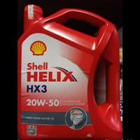 oli shell helix hx3 20w 50 4 liter/ oli mobil/oli Shell Helix