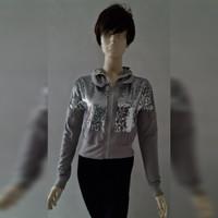 Woman Fashion Diamomd Dust Hoddie Outer - Baju Jaket Luaran Wanita