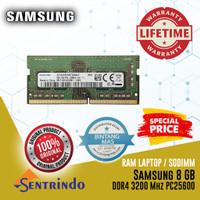 RAM Laptop SODIMM Samsung DDR4 8GB PC25600 3200 Mhz Single