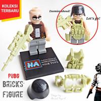 BRICKS PUBG ACTION FIGURE INCLUDE WEAPON ARMOR - LEGO BRICK PUBG