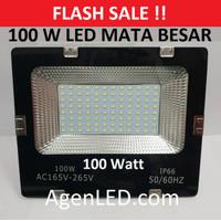 LED SOROT 100W Flood Light Lampu penerangan tembak 100 w watt outdoor