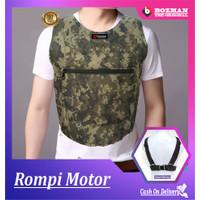 ROMPI MOTOR PELINDUNG DADA MOTIF ARMY TERBARU