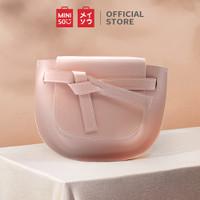 MINISO Handbag Tas Selempang Wanita Sling Bag Saddle Pesta Fashion - Merah Muda