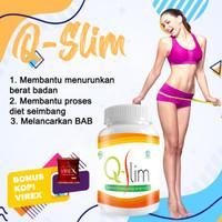 Obat Pelangsing Penurun Berat Badan / Q-Slim Suplemen Diet Herbal BPOM