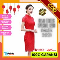 baju mini dress imlek wanita import china kekinian terbaru korea COD