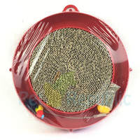 CATIT Mainan Kucing Circuit Ball Toy with SCRATCH Pad