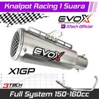 Knalpot Racing Evox X1 GP Series Motor 150-160cc Full System