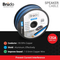 Brudo Subwoofer Cable BL-SC12 - 12 AWG (1 meter) - Germany Technology