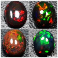 Natural Batu Permata Black Opal Kembang Jarong Body Jarong
