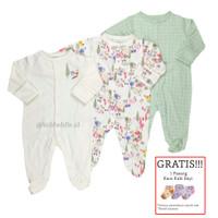 Baju Tidur Bayi Sleepsuit 3 in 1 Mamas Papas Premium Motif Tropical