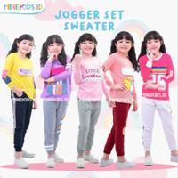 Baju Olahraga Anak Perempuan Jogger Sweater MineKids