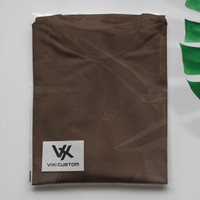Kaos Polos Warna Coklat Tua Bahan Premium Cotton Combed 20s