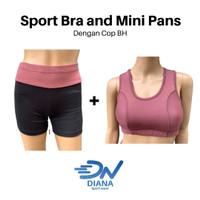 Setelan sport bra dan celana olahraga wanita | pakaian olahraga cewek - S