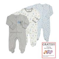 Baju Tidur Bayi Sleepsuit 3 in 1 Mamas Papas Premium Motif Little Bear